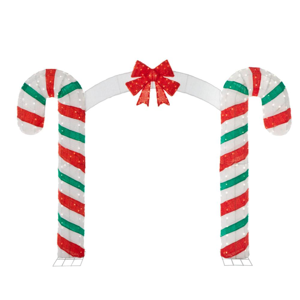 Christmas Candy Cane.Candy Cane Lane 84 In H X 120 In W 350 Lights Christmas Candy Cane Archway