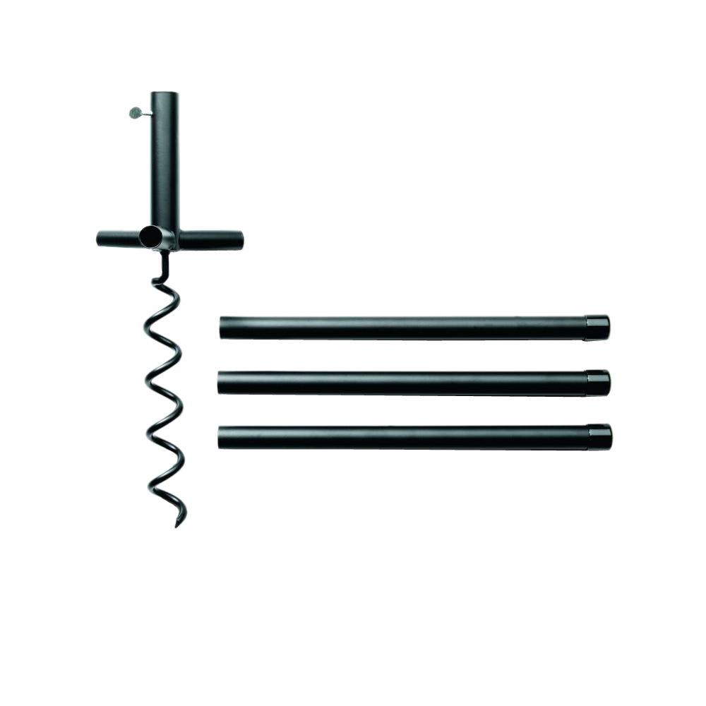 16 in. Ultimate Metal Auger Pole System Anchoring Accessory