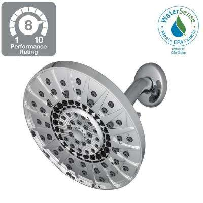 Kent 7-Spray 6 in. Showerhead in Chrome
