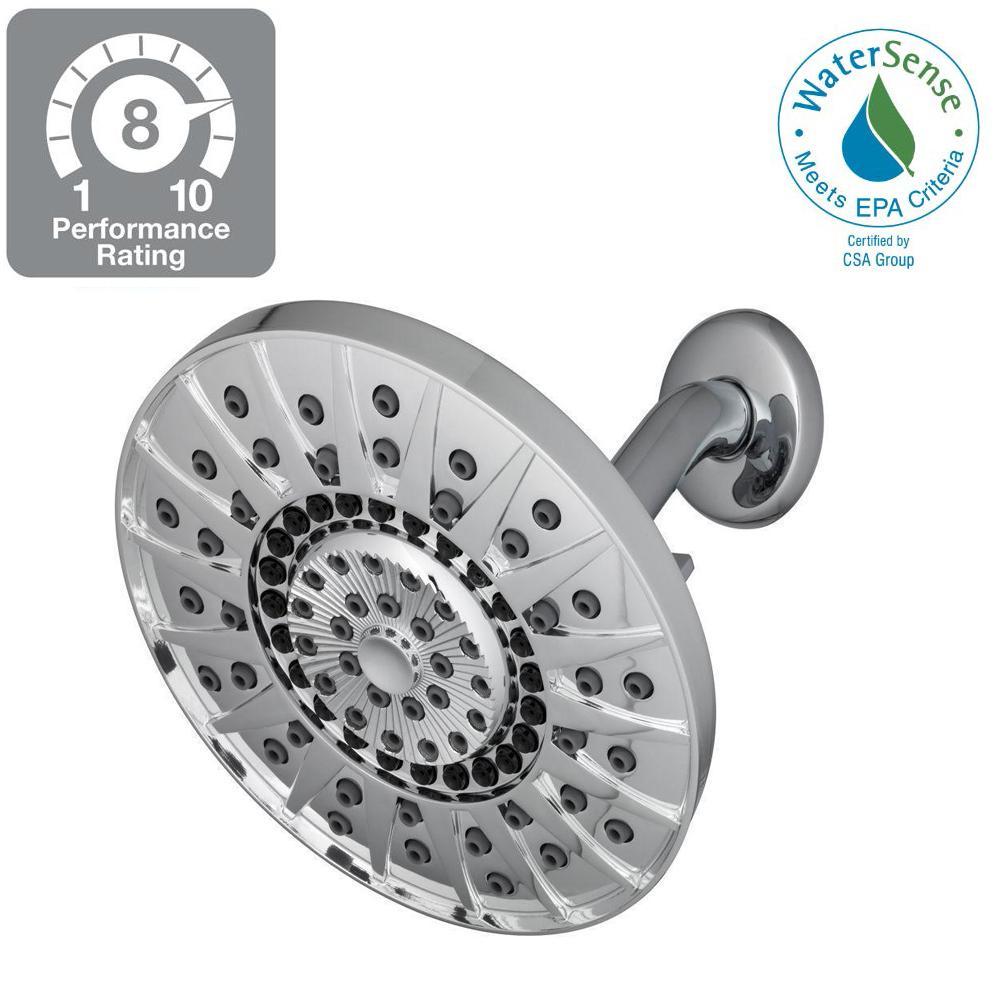 Kent 7-Spray 6 in. Showerhead in Chrome