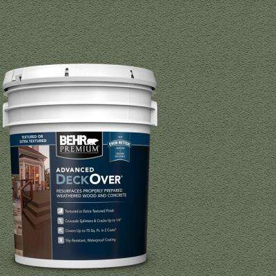 5 gal. #SC-126 Woodland Green Textured Solid Color Exterior Wood and Concrete Coating