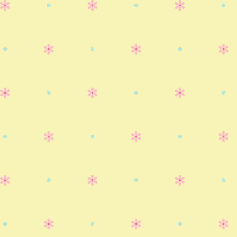 York Wallcoverings 56 sq. ft. Mini Daisy Spot Wallpaper-DISCONTINUED