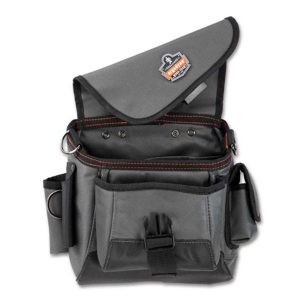 Arsenal 11 in. 16-Pocket Topped Tool Pouch in Gray