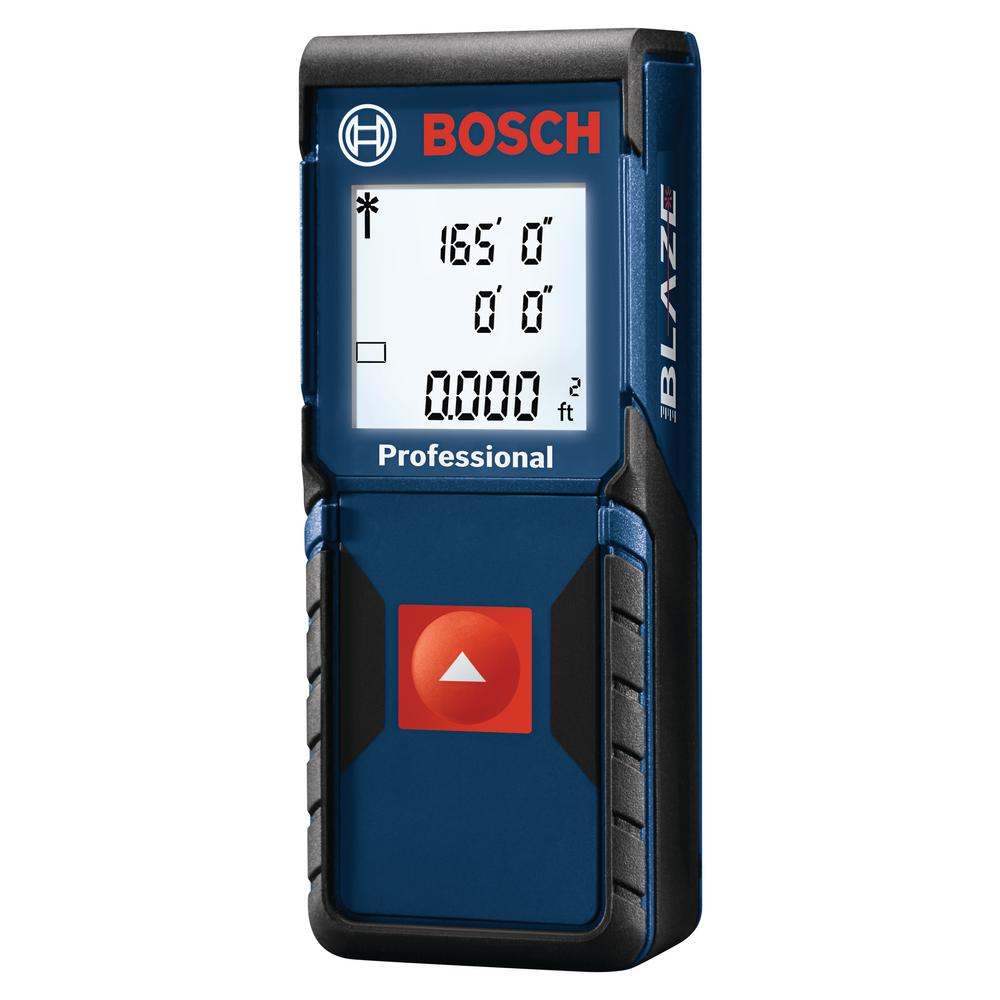 bosch blaze one 165 ft. laser measurer with auto square footage