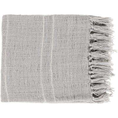 Elenora Silver Acrylic Throw