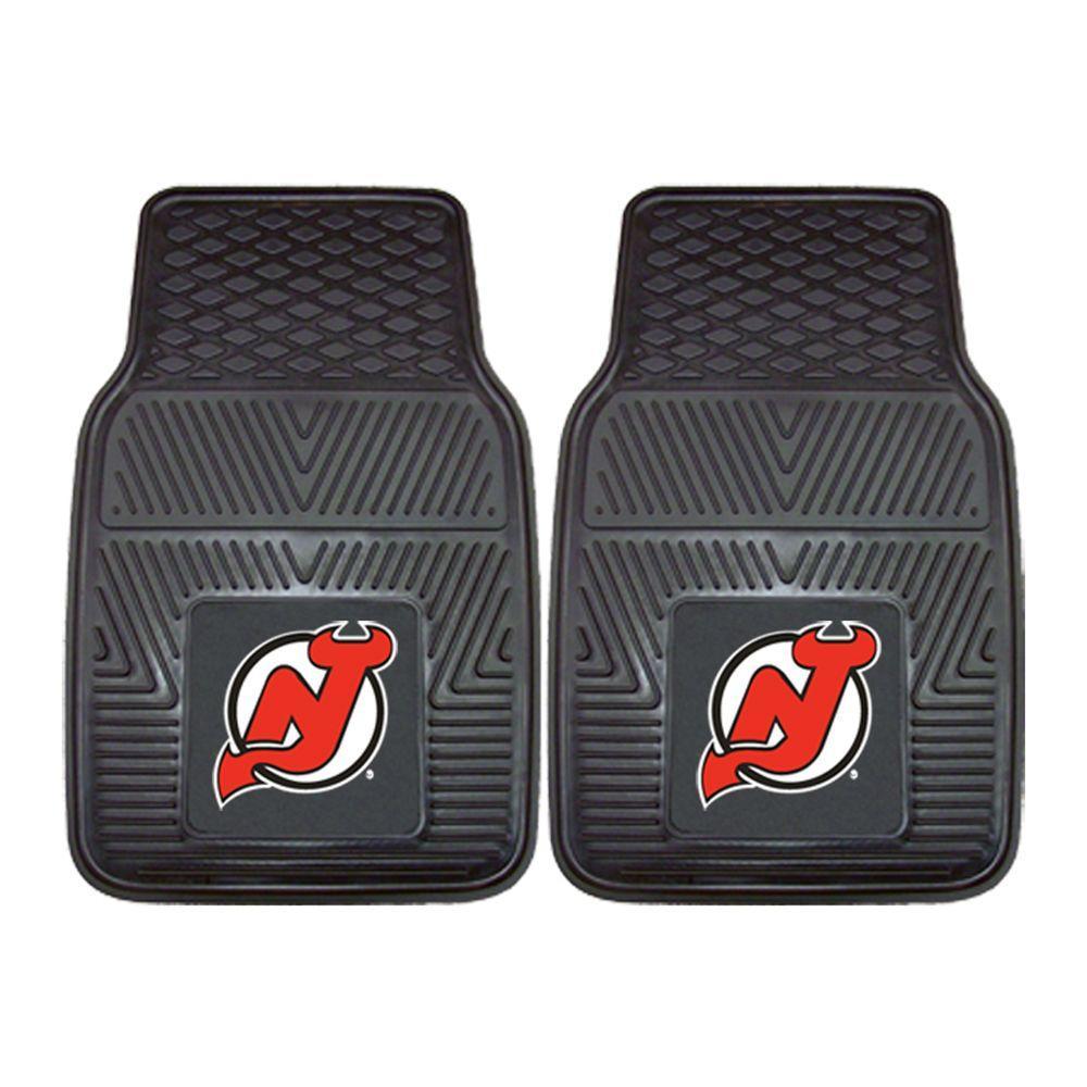 FANMATS New Jersey Devils 18 in. x 27 in. 2-Piece Heavy Duty Vinyl Car Mat