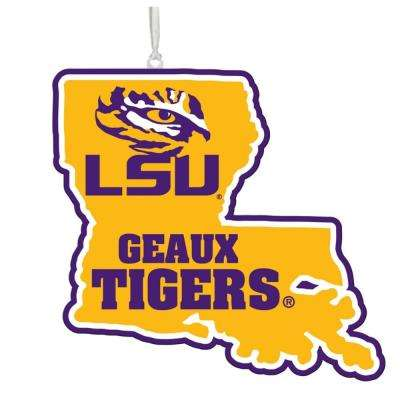 Louisiana State University 5 in. NCAA Team State Christmas Ornament