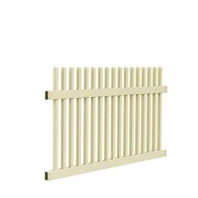 Ottawa Straight 4 ft. H x 6 ft. W Sand Vinyl Fence Panel Kit