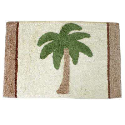 Key Largo 20 in. x 30 in. Cotton Bath Rug in Natural