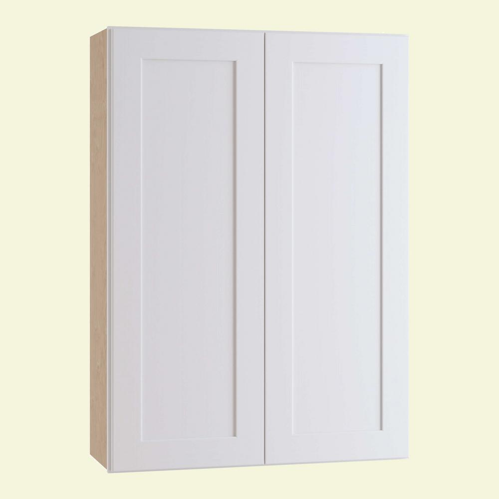 Home Decorators Collection Newport Assembled 30 in. x 36 in. x 12 in. Wall Kitchen Cabinet with Double Doors in Pacific White