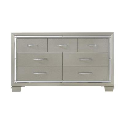 Glamour 7-Drawer Dresser in Champagne