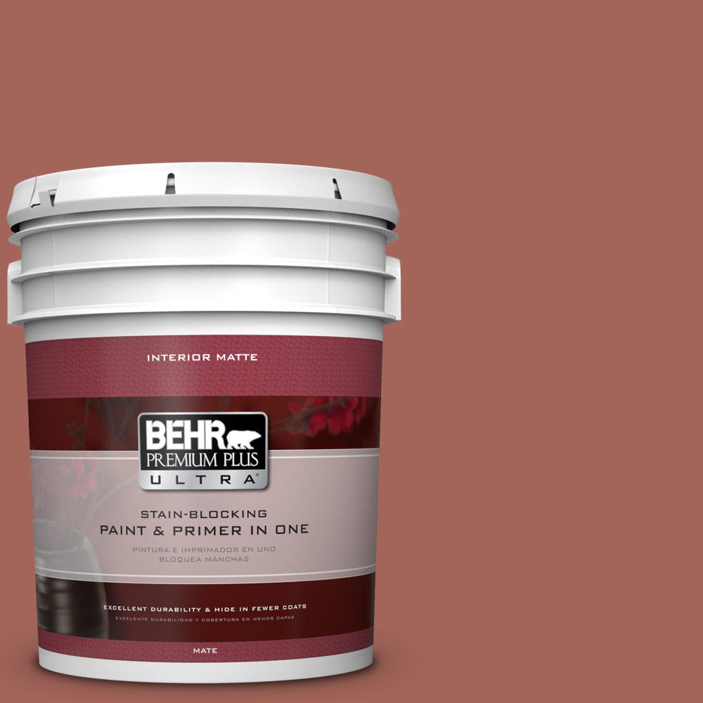 BEHR Premium Plus Ultra Home Decorators Collection 5 gal. #HDC-CL-08 Sun Baked Earth Flat/Matte Interior Paint