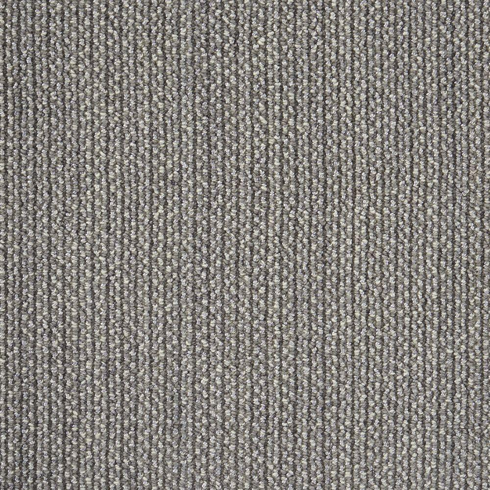Panorama Tweed Battleship Custom Area Rug with Pad