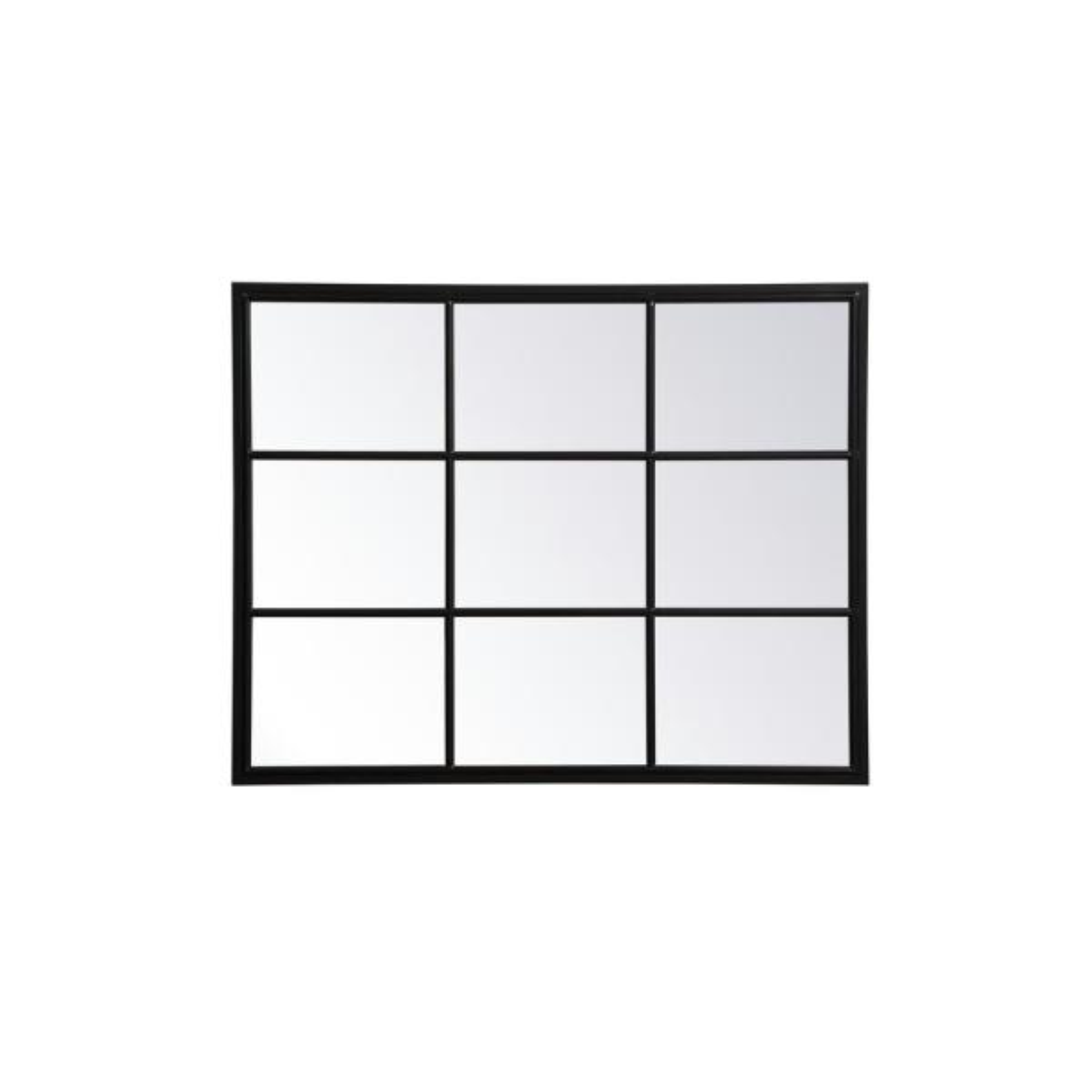 Medium Rectangle Black Contemporary Mirror (40 in. H x 31.5 in. W)