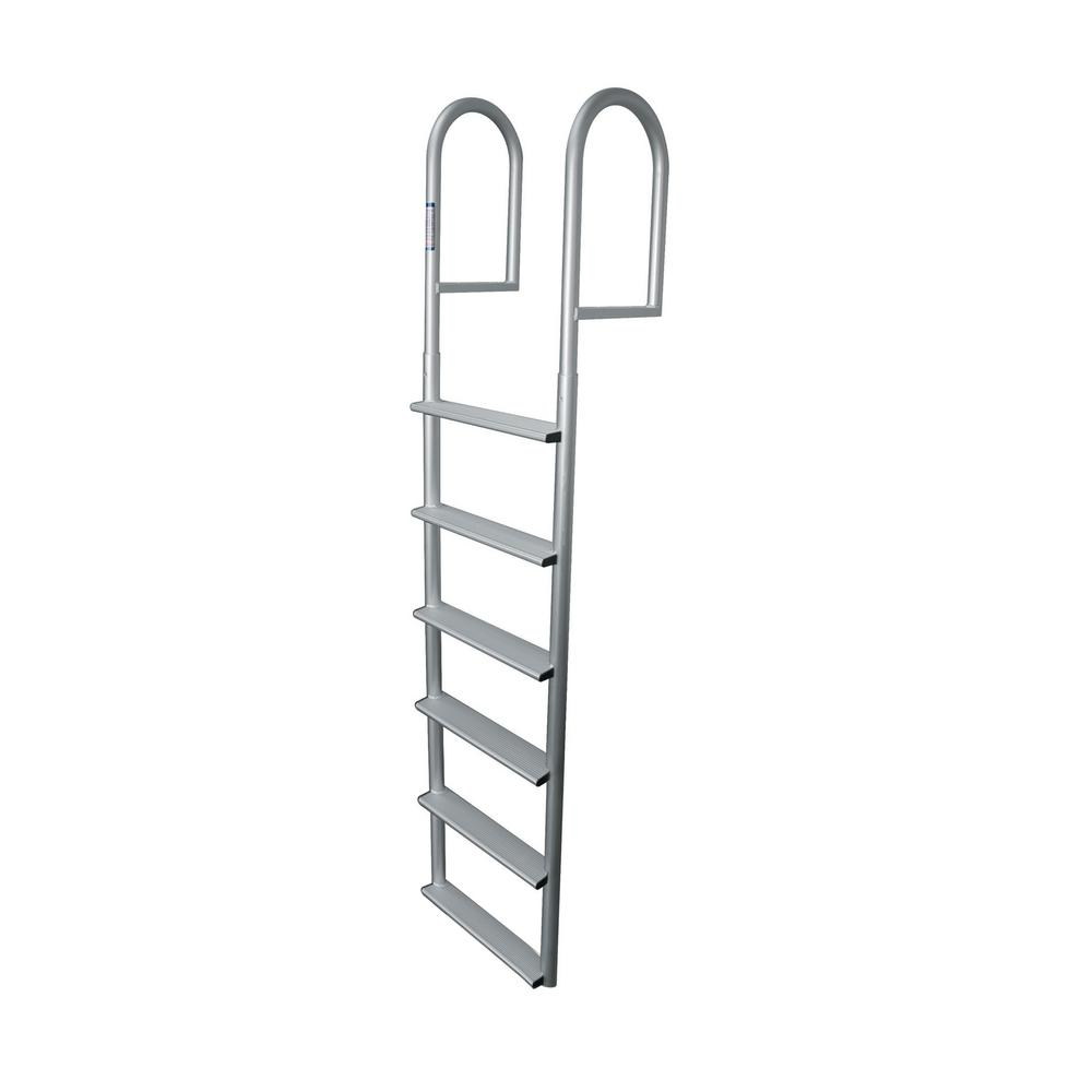 Tommy Docks 6 Rung Step Wide Aluminum Ladder