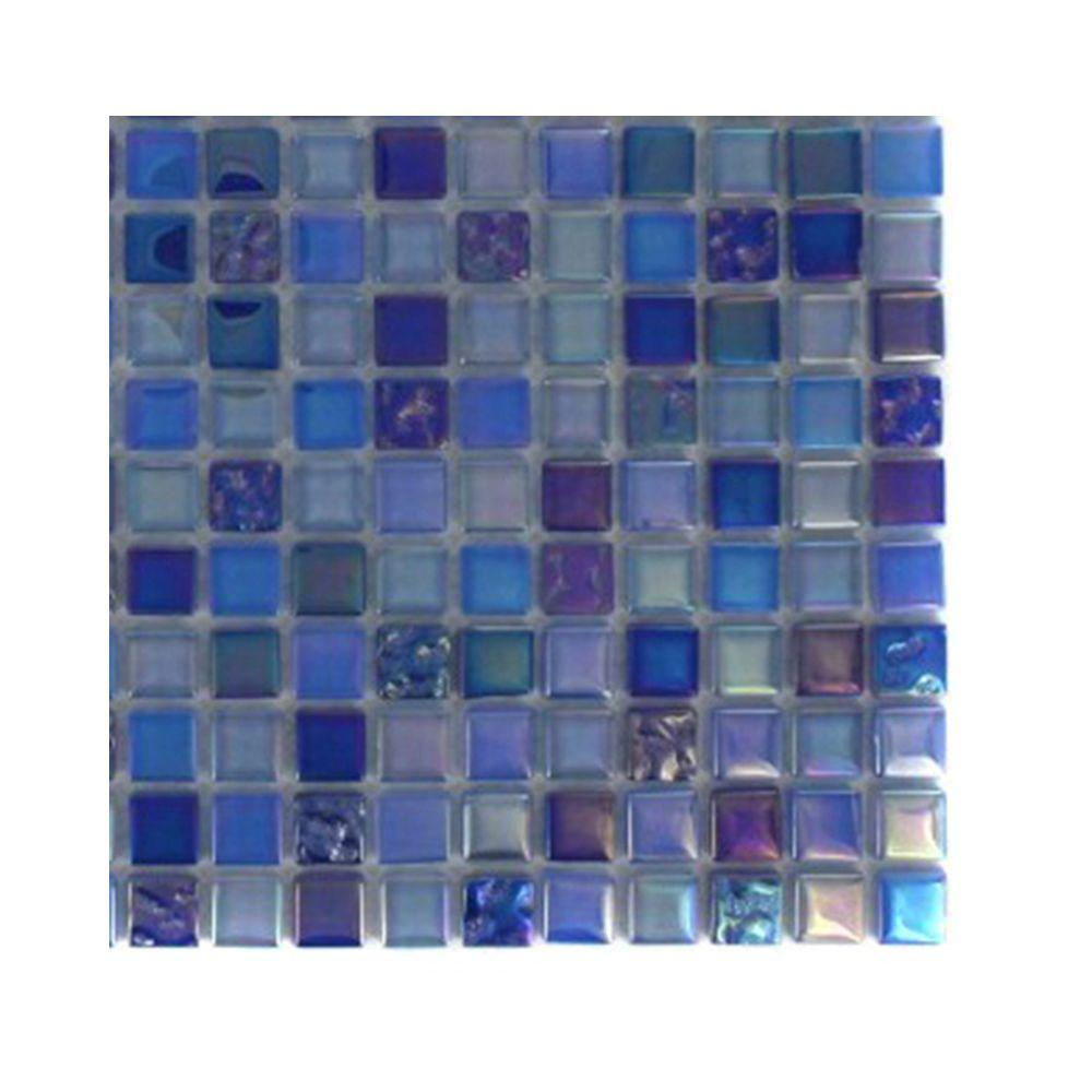 Capriccio Battipaglia Glass Mosaic Floor and Wall Tile - 3 in.