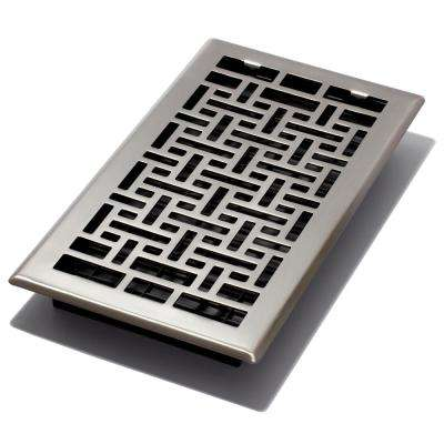 6 in. x 12 in. Oriental Nickel Floor Register