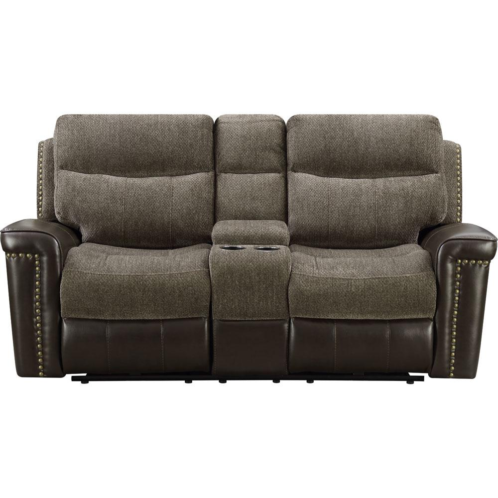 Modena Brown Double Reclining Loveseat