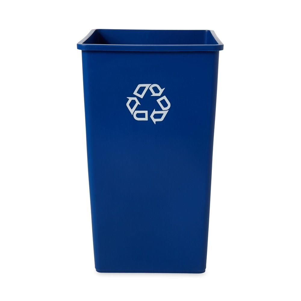 50 Gal. Untouchable Blue Square Recycling Container