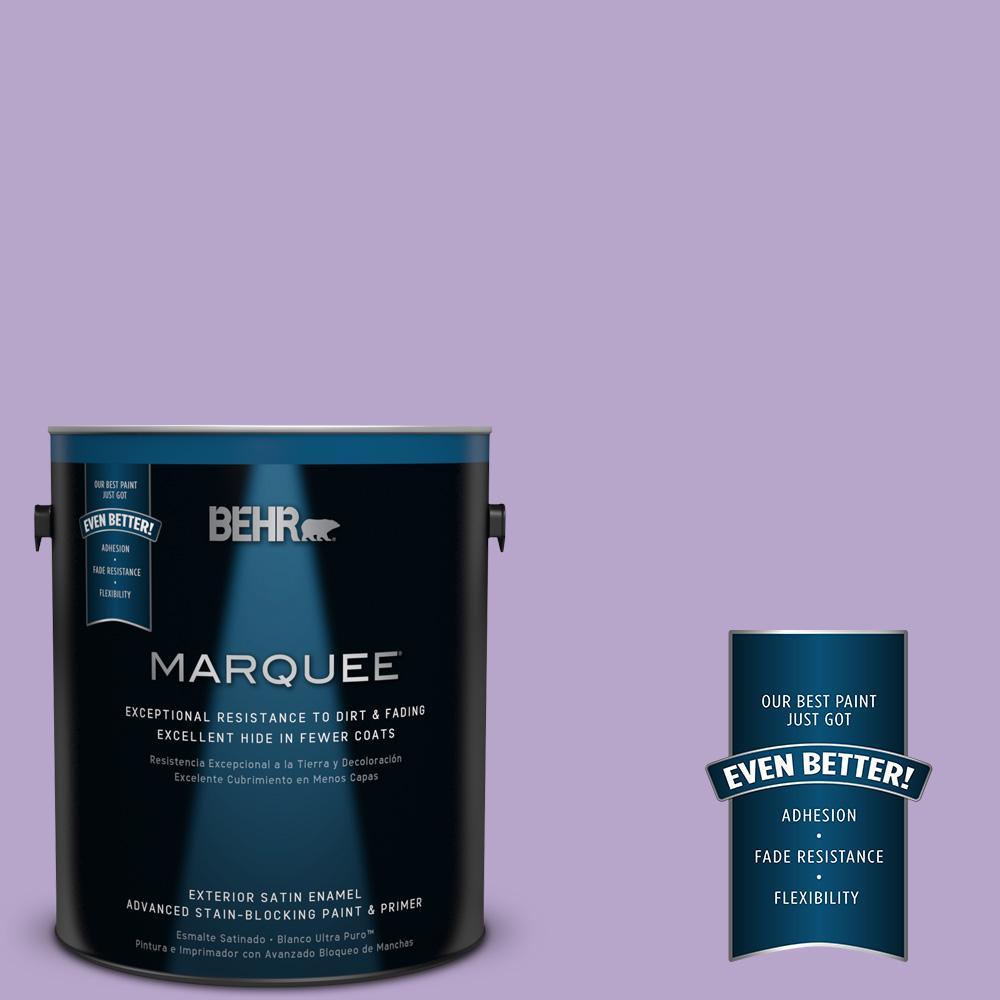 BEHR MARQUEE 1-gal. #650B-4 Violet Fields Satin Enamel Exterior Paint