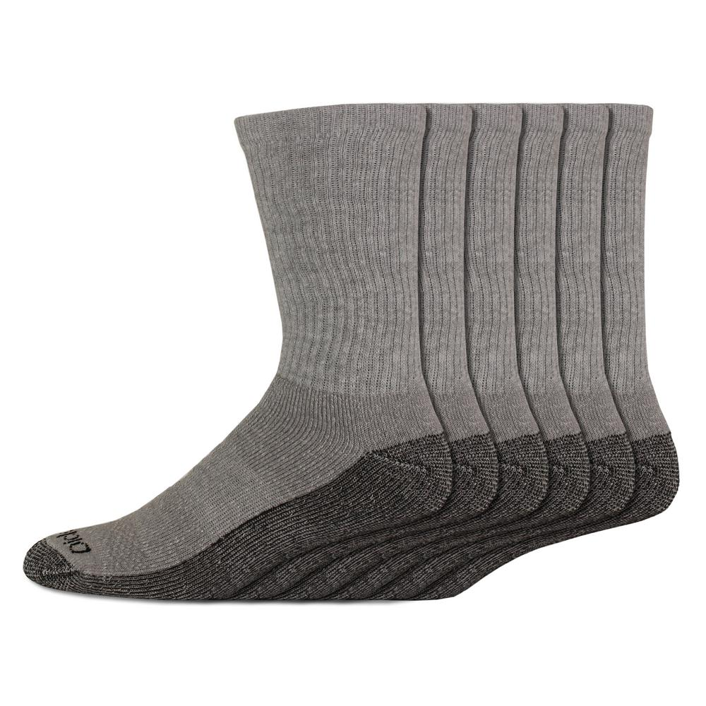 6 Pack DICKIES Mens DRI-TECH QUARTER Work Socks Reinforced Heel and Toe  6-11