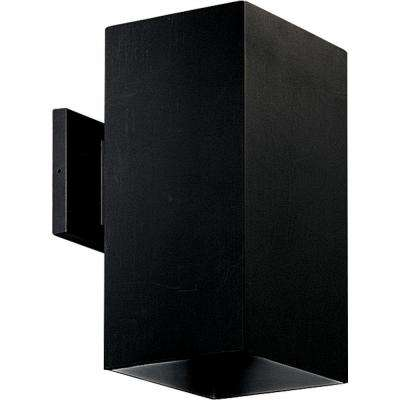 1-Light Outdoor Black Wall Lantern