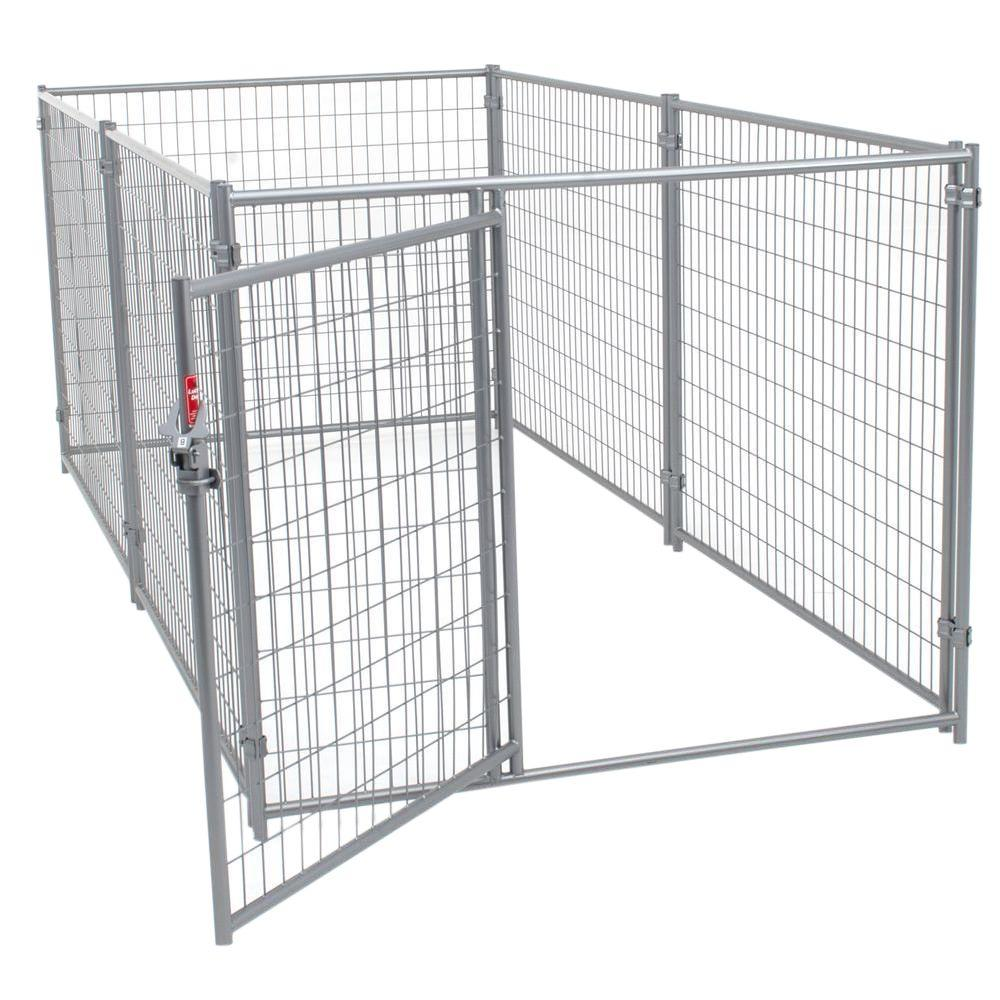 Lucky Dog 4 ft. H x 5 ft. W x 10 ft. L Modular Welded Wire Kennel ...
