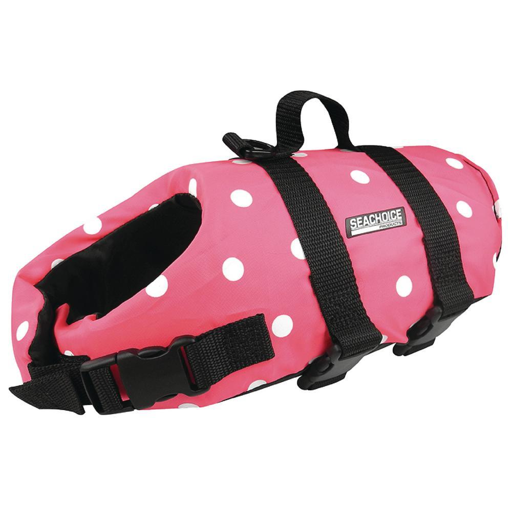 Small Size Dog Life Vest, Pink Polka Dot