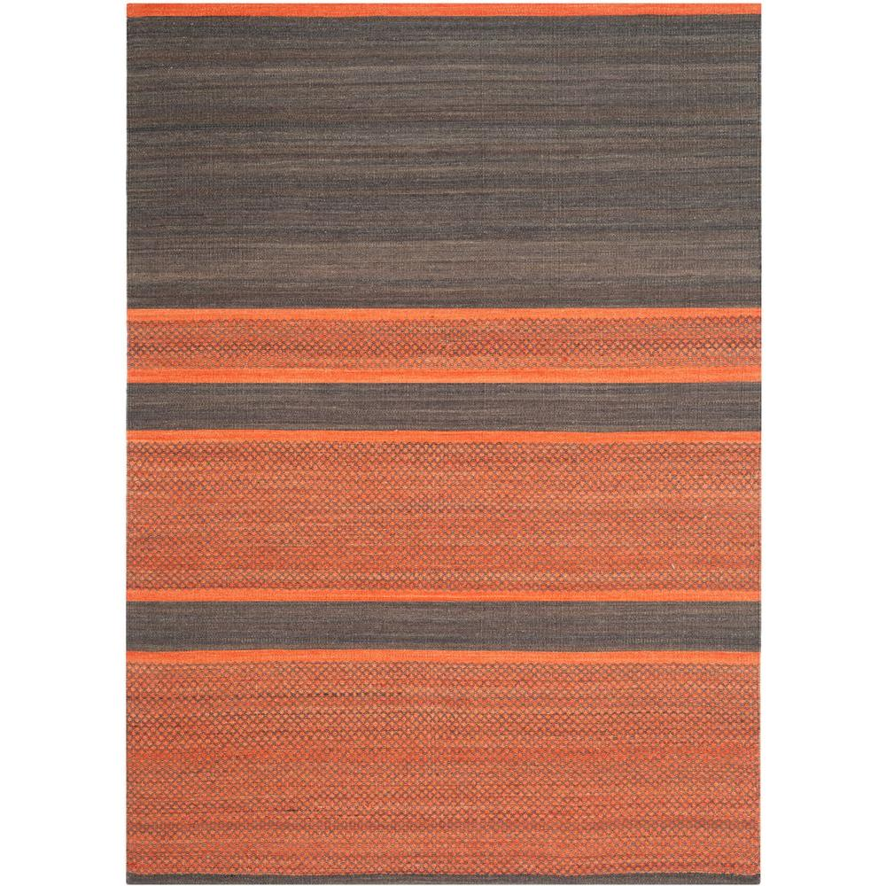 Safavieh Kilim Dark Grey Orange 5 Ft X 8 Area Rug