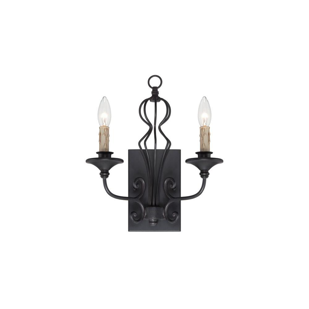 Designers Fountain Tangier 2-Light Natural Iron Wall Sconce