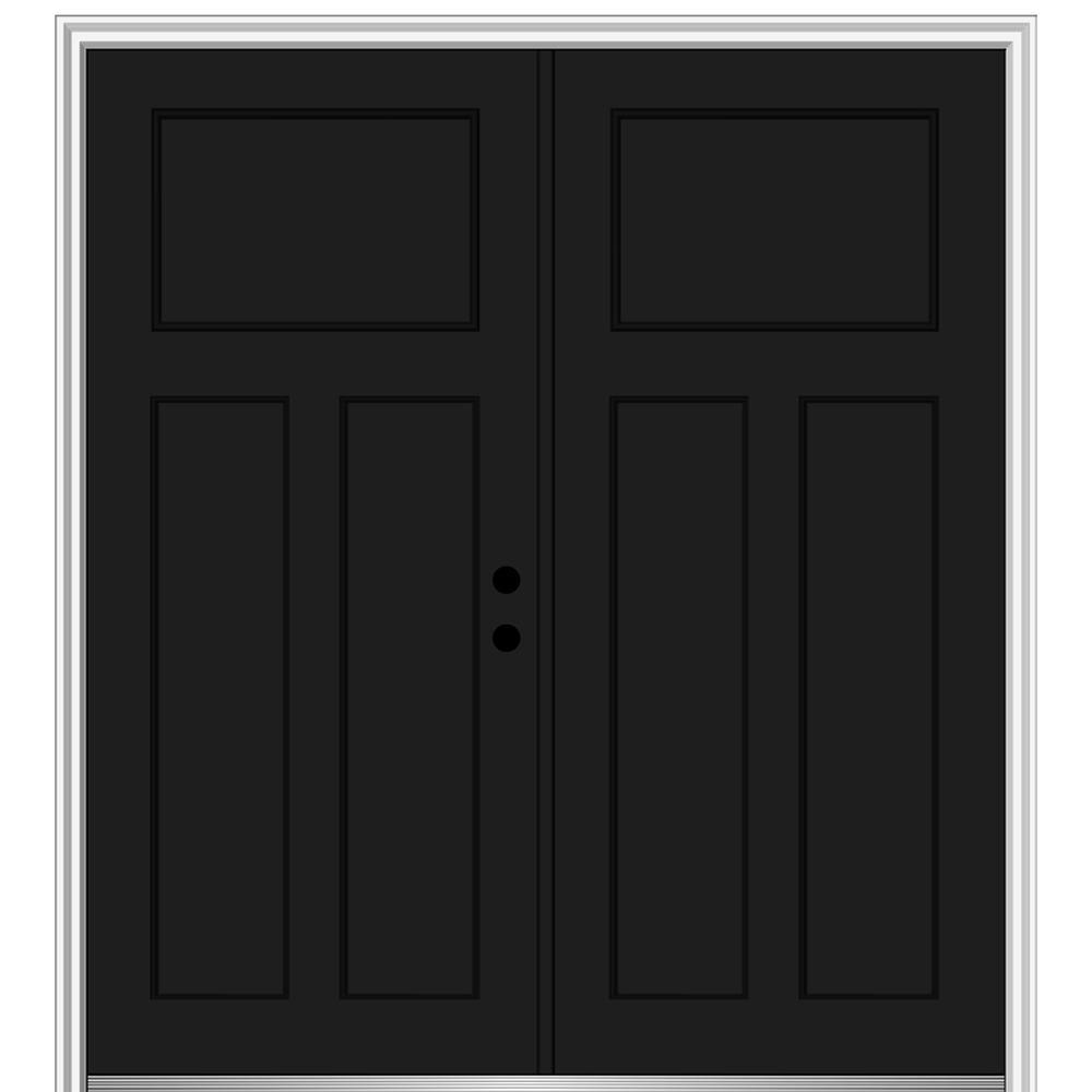 Double Door Black Front Doors