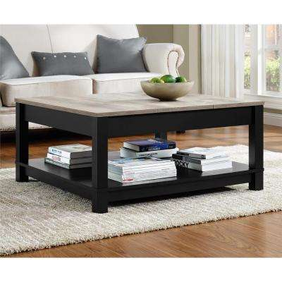 Carver Matte Black Storage Coffee Table