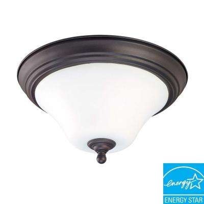 Glomar 1-Light Dark Chocolate Bronze Flush Mount