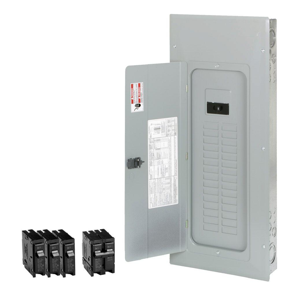 Main Breaker Load Centers Boxes The Home Depot Box Circuit Electrical Panel Fuse Br 200 Amp 30 Space 40 Indoor