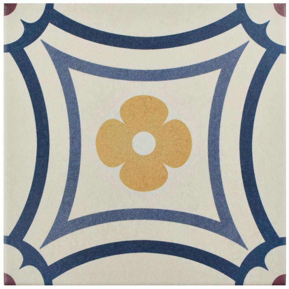 Caprice Saint Tropez 7-7/8 in. x 7-7/8 in. Porcelain Floor and