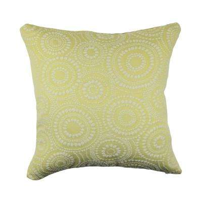 Circle Link Throw Pillow
