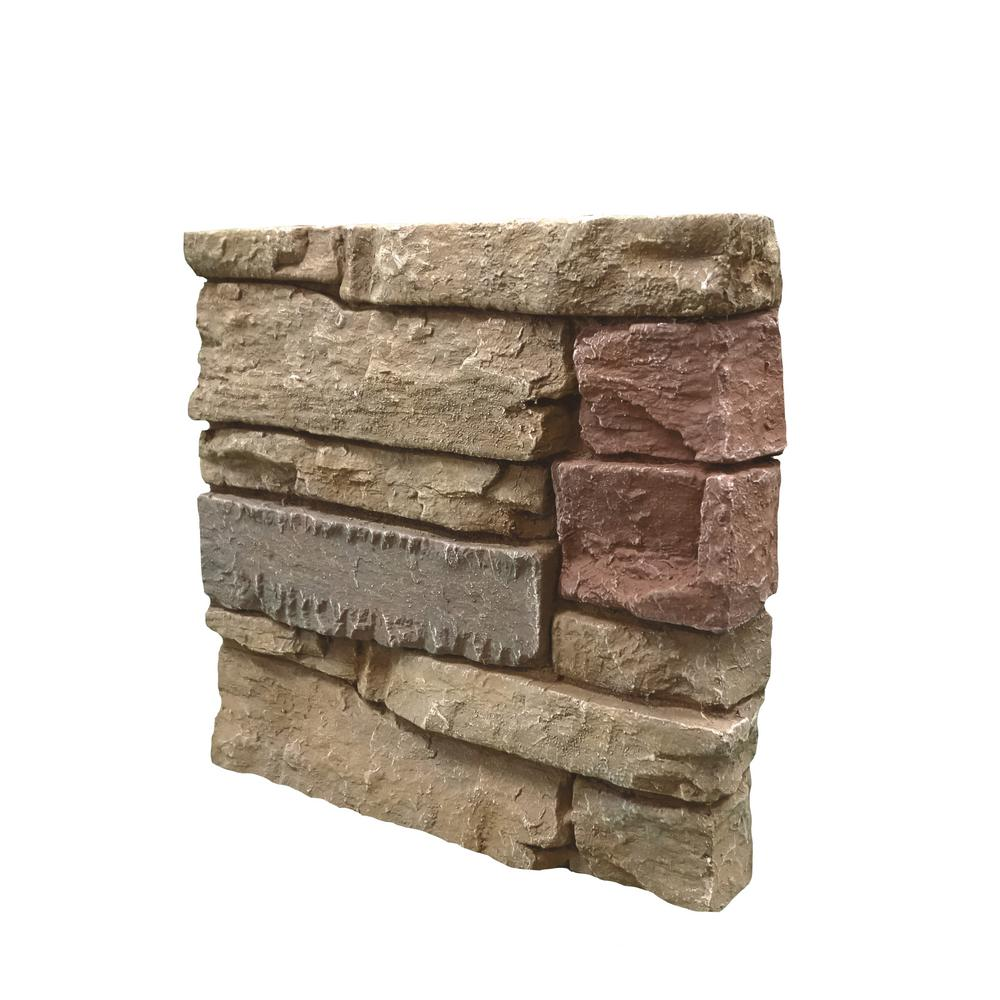 Stacked Stone Home Exterior: GenStone Stacked Stone Desert Sunrise 12 In. X 12 In. Faux