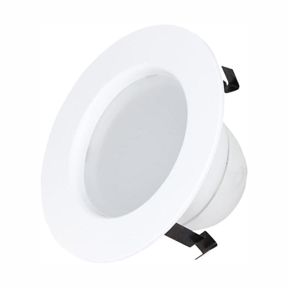 Commercial Electric 4 in. 9-Watt Dimmable White Integrated LED Energy Star Recessed Retrofit Trim Downlight with Color Changing CCT