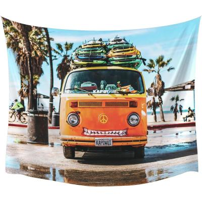 Surf Van Large Wall Tapestry