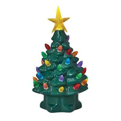 christmas porcelain nostalgic tree in green - Nostalgic Christmas Decorations