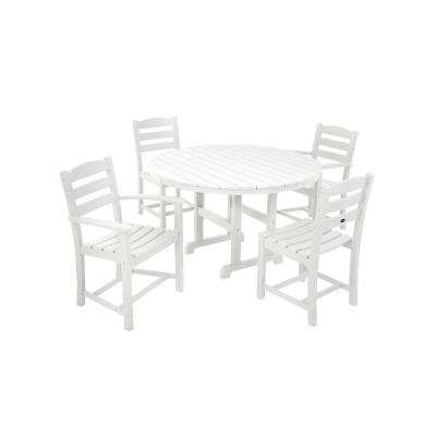 La Casa Cafe White 5-Piece Patio Dining Set