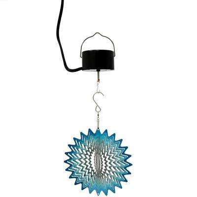 6 in. Whirling Blue Star Wind Spinner with Electric-Operated Motor