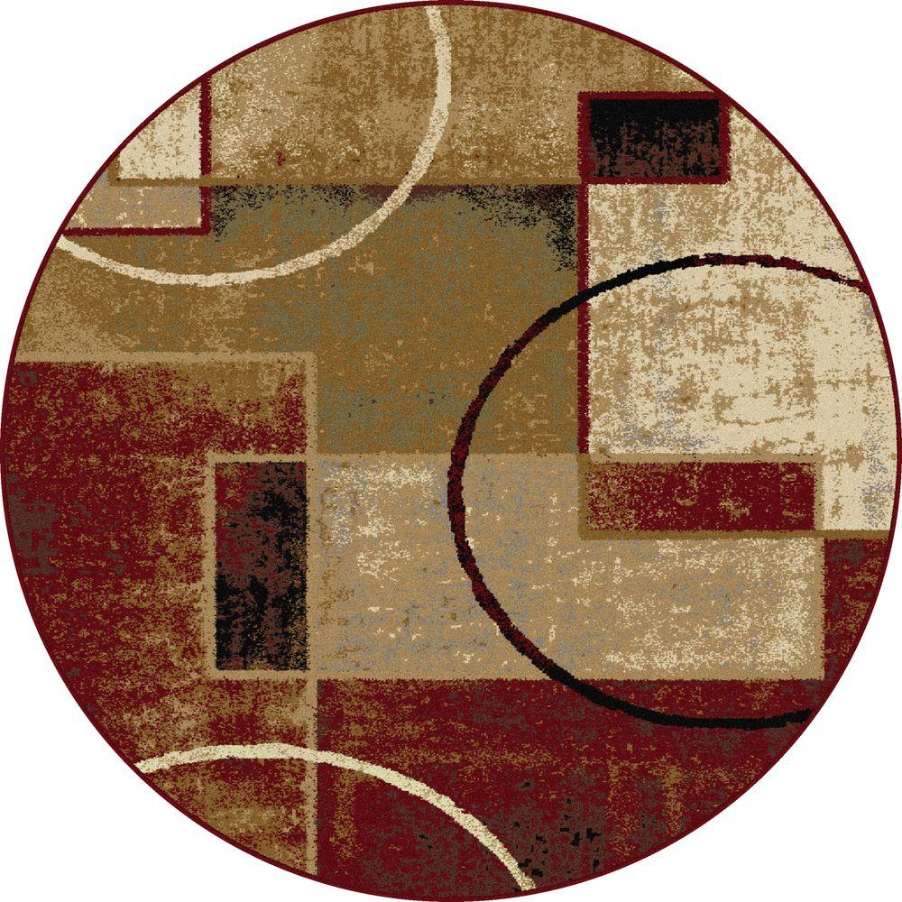 Tayse Rugs Festival Multi 5 Ft X Round Contemporary Area Rug