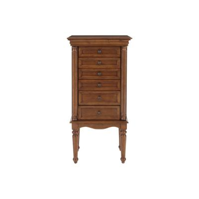 StyleWell 6 Drawer Walnut Finish Jewelry Armoire (20 in W. X 40 in H.)