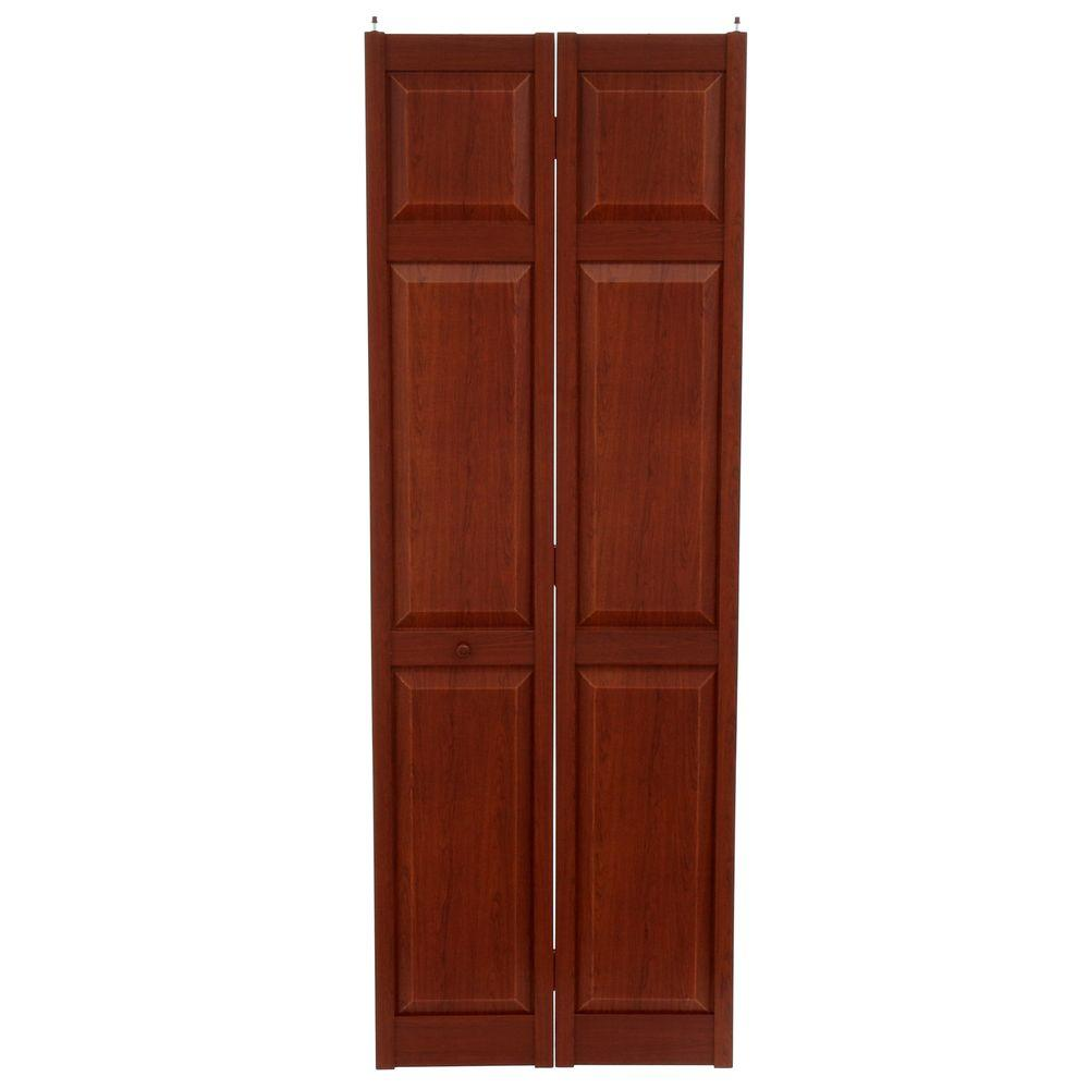 Home Fashion Technologies 28 in. x 80 in. 6-Panel Cherry ...
