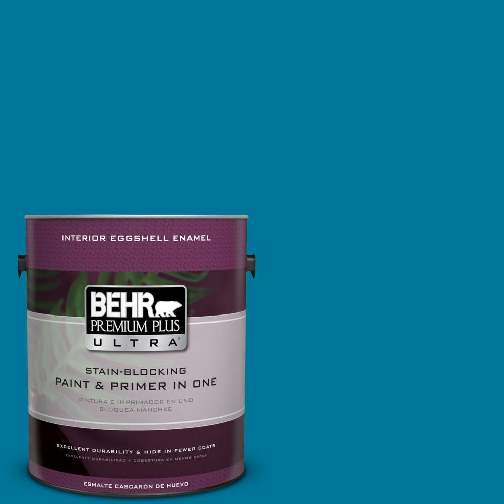 BEHR Premium Plus Ultra 1-gal. #P490-7 Mayan Treasure Eggshell Enamel Interior Paint