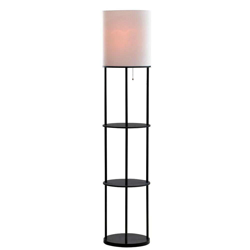 Alsy 63 in. Brushed Nickel Oval Etagere Floor Lamp-18200-007 - The ...