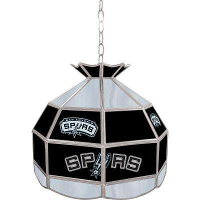 San Antonio Spurs NBA 16 in. Nickel Hanging Tiffany Style Lamp