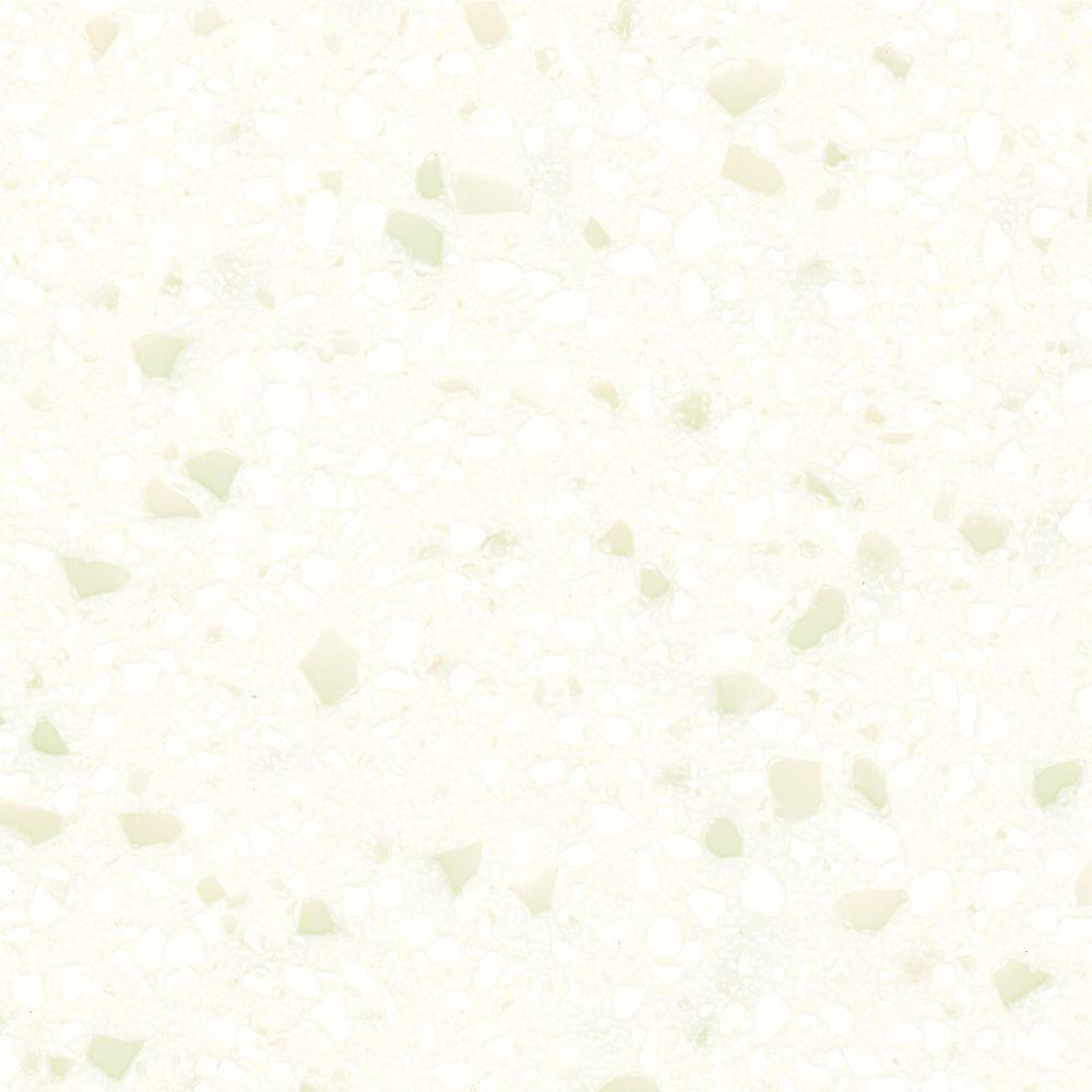 4 in. x 4 in. Solid Surface Vanity Top Sample in Winter Waltz
