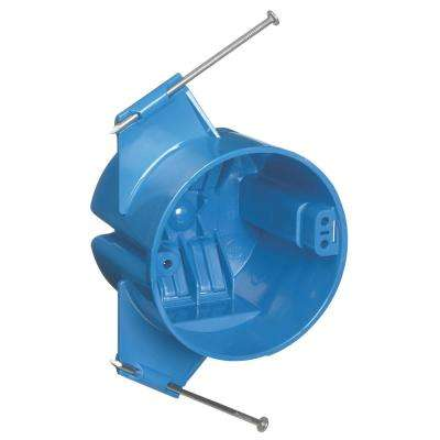 18 cu. in. Blue Polycarbonate Round New Work Ceiling Electrical Box